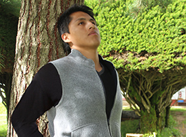 Reversible Alpaca Fabric Sport Vest Men