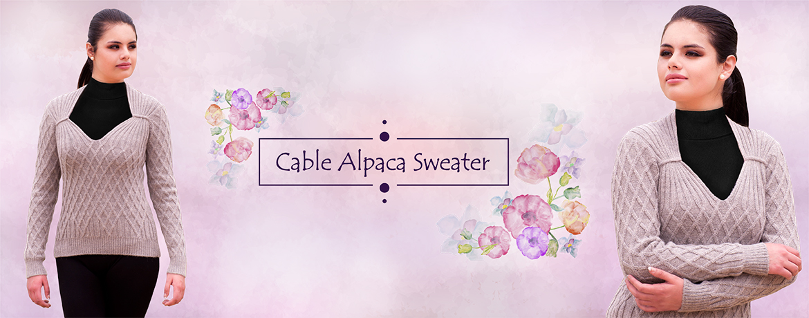 Cable Alpaca Sweater